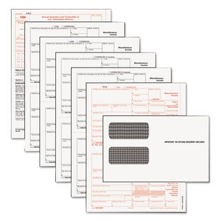 TOPS 1099-MISC Tax Form Kits 8 x 5 1/2 5-Part Inkjet/Laser 24 1099s & 1 1096