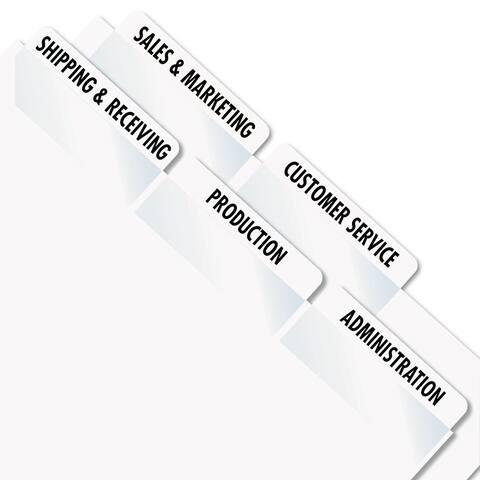 Redi-Tag Laser Printable Index Tabs 2 x 7/8 White 300/Pack