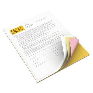 Xerox Bold Digital Carbonless Paper 8 1/2 x11 White/Canary/Pink/Gldrod 5 000 Sheets