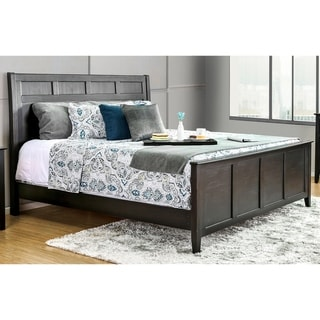 Furniture of America Bost Transitional Black Solid Wood Panel Bed