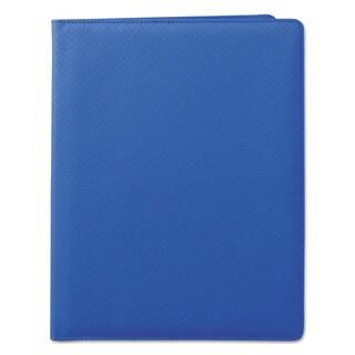 Samsill Fashion Padfolio 8 1/2 x 11 Blue PVC