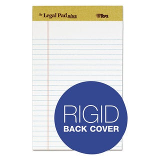 TOPS The Legal Pad Ruled Perforated Pads Narrow 5 x 8 White 50 Sheets DZ