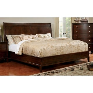 Furniture of America Kami Transitional Brown Cherry Panel Bed
