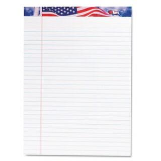 TOPS American Pride Writing Pad Legal/Wide 8 1/2 x 11 3/4 White 50 Sheets Dozen