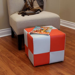 Raymond 14.5-inch Ottoman - Orange