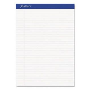 Ampad Perforated Writing Pad 8 1/2 x 11 3/4 White 50 Sheets Dozen