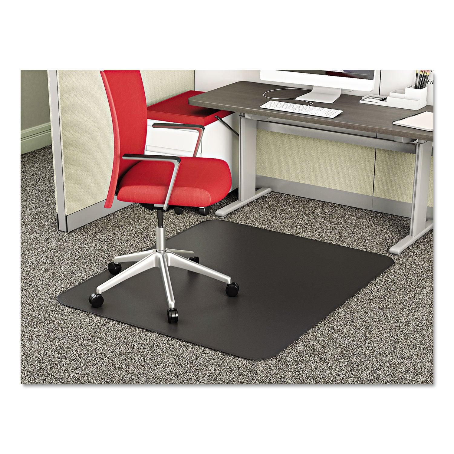 Deflect-o Corporation SuperMat Frequent Use Chair Mat Med...