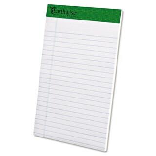 Ampad Earthwise Recycled Writing Pad Narrow 5 x 8 White Dozen