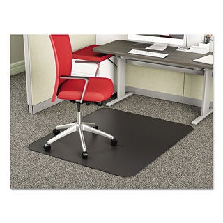 deflecto SuperMat Frequent Use Chair Mat Medium Pile Carpet Beveled 36 x 48 Black