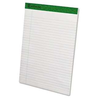 Ampad Earthwise Recycled Writing Pad 8 1/2 x 11 3/4 White Dozen