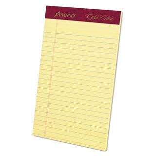 Ampad Gold Fibre Writing Pads College/Medium 5 x 8 Canary 50 Sheets