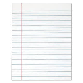 TOPS The Legal Pad Glue Top Pads Legal/Wide 8 1/2 x 11 White 50 Sheets Dozen