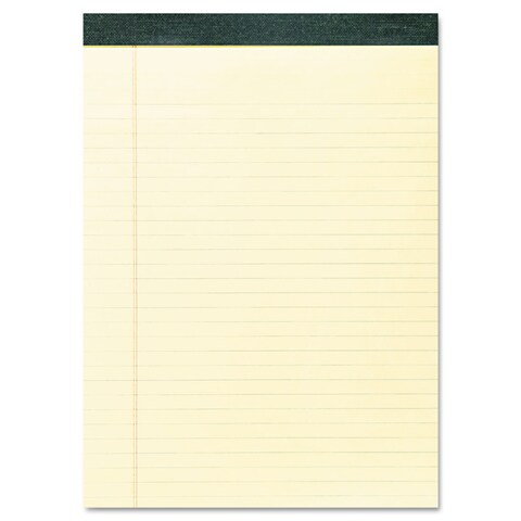 Roaring Spring Recycled Legal Pad 8 1/2 x 11 3/4 Pad 8 1/2 x 11 Sheets 40/Pad Canary Dozen