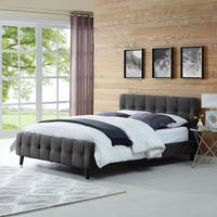 Ophelia Queen Tufted Upholstered Platform Bed