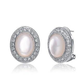 Collette Z Sterling Silver Shell Opal Earrings - Pink