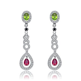 Collette Z Sterling Silver Cubic Zirconia Dangle Earrings With Rings