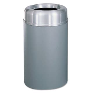 Rubbermaid Commercial Crowne Collection Open Top Receptacle, Aluminum/Steel, 30 gallon, Silver/Grey