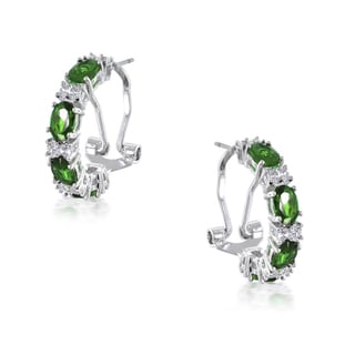 Collette Z Sterling Silver Cubic Zirconia Green Pear Studs