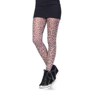Leg Avenue Women's Paper Print Leopard Tights
