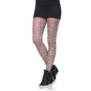 Leg Avenue Women's Paper Print Leopard Tights