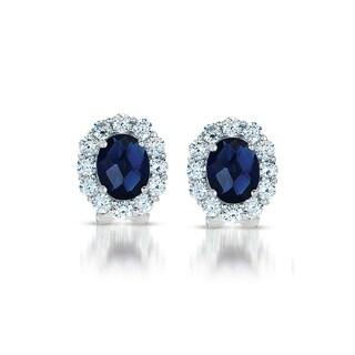 Collette Z C.Z. Sterling Silver Cubic Zirconia Celebrity-inspired Stud Earrings