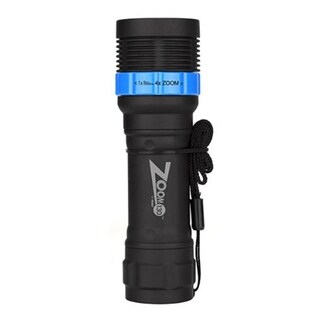 Nebo Zoom Blue High-Quality 130 LED Flashlight with 4x Lens
