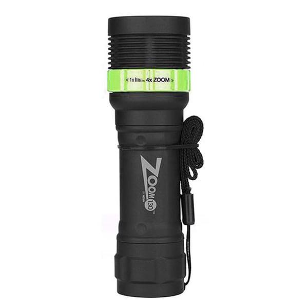 Nebo Zoom Green Plastic 130 LED Lumen Flashlight