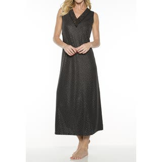 Rhonda Shear Women's Printed V-neck Long Gown with Shelf Bra|https://ak1.ostkcdn.com/images/products/14062282/P20675551.jpg?impolicy=medium