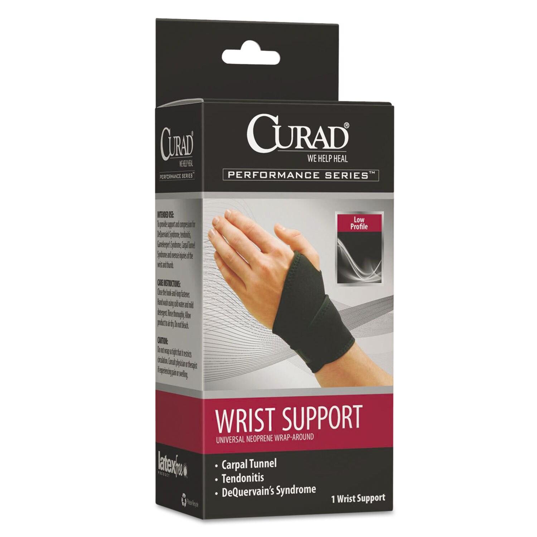 Curad Performance Series Adjustable Black Wrist Support