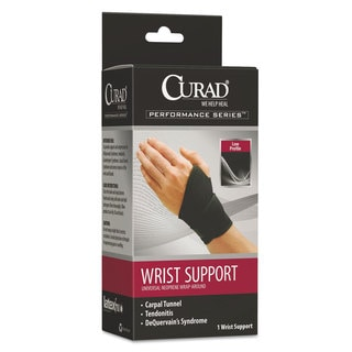Curad Performance Series Adjustable Black Wrist Support