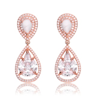 Collette Z Rose Gold Overlay How Lite Formal Drop Earrings