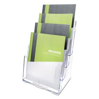 deflecto Multi Compartment DocuHolder Four Compartments 9 3/8-inch wide x 7-inch deep x 13 5/8-inch high Clear