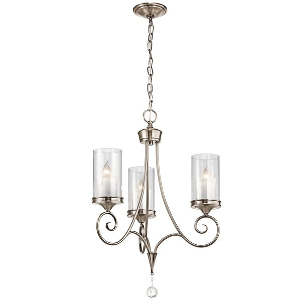 Kichler Lighting Lara Collection 3-light Classic Pewter Chandelier