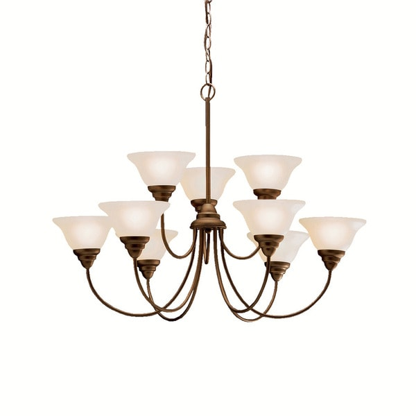 Kichler Lighting Telford Collection 9-light Olde Bronze Chandelier