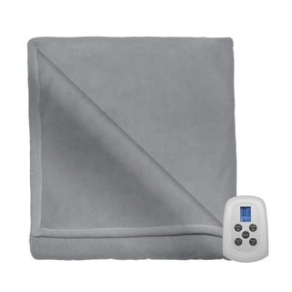 Serta MicroFleece Heated Electric Warming Blanket with 10 Heat Settings and a Programmable Digital Controller