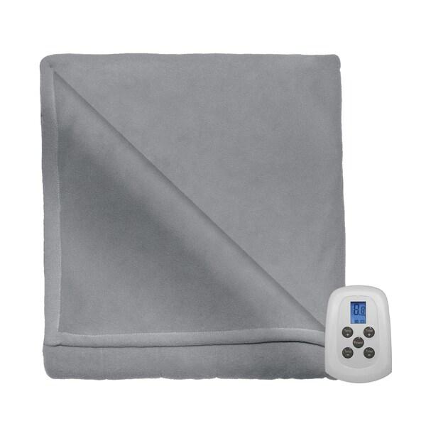 Serta MicroFleece Heated Electric Warming Blanket
