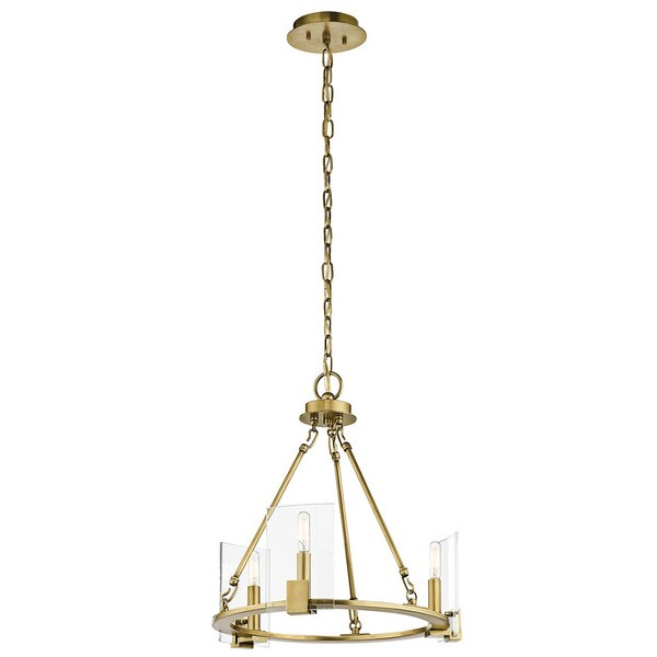 Kichler Lighting Signata Collection 3-light Natural Brass Mini Chandelier