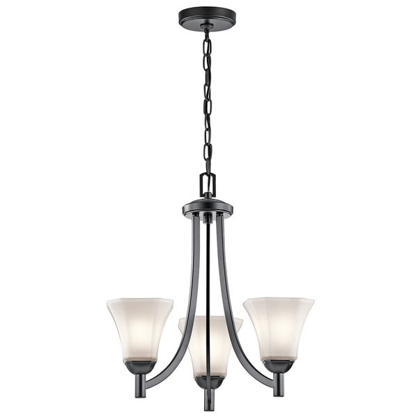 Kichler Lighting Serina Collection 3-light Black Chandelier