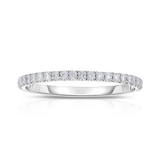 Eloquence 14k White Gold 3/8ct TW Diamond Eternity Band