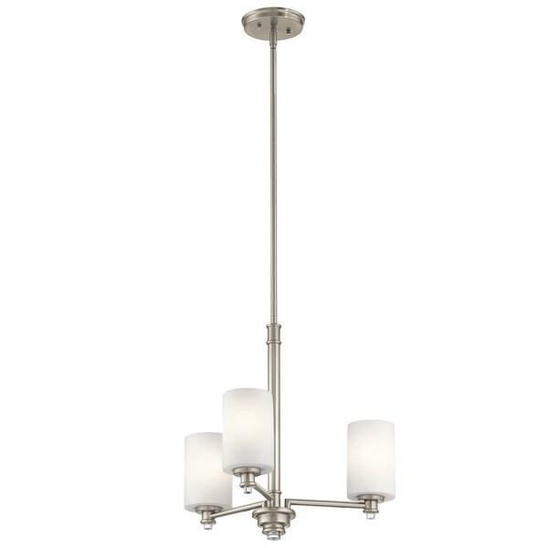 Kichler Lighting Joelson Collection 3-light Brushed Nickel LED Chandelier