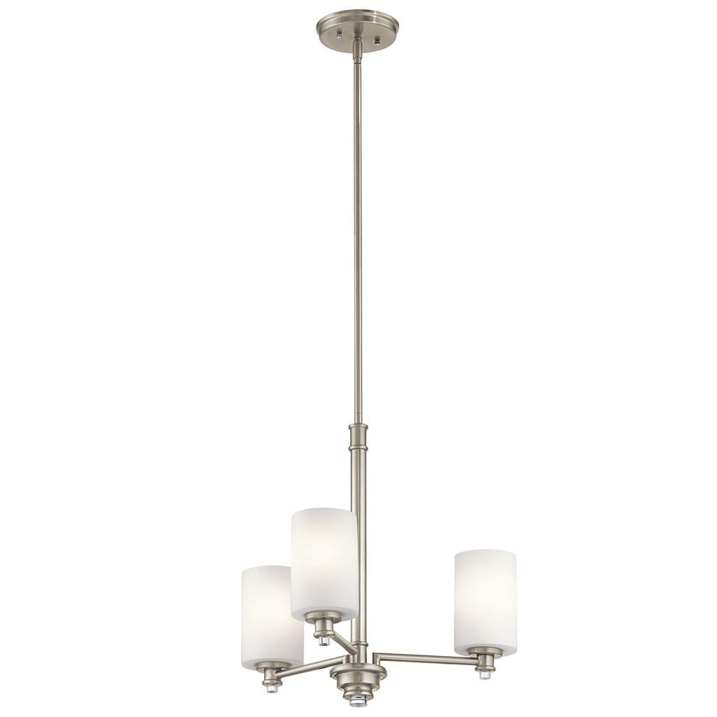 Clay Alder Home 3-light Brushed Nickel LED Chandelier