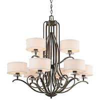 Kichler Lighting Leighton Collection 9-light Olde Bronze Chandelier