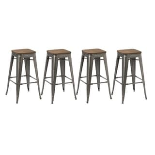 Link to The Gray Barn Horseshoe Stackable Barstools (Set of 4) Similar Items in Dining Room & Bar Furniture