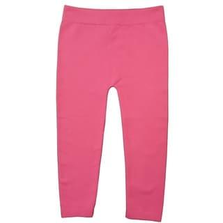 Riviera Kids' Pink Fleece Leggings