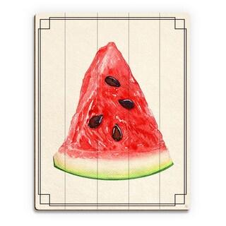 Watermelon Slice Wall Art Print on Wood