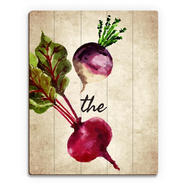 Turnip the Beet Vintage Wall Art Print on Wood