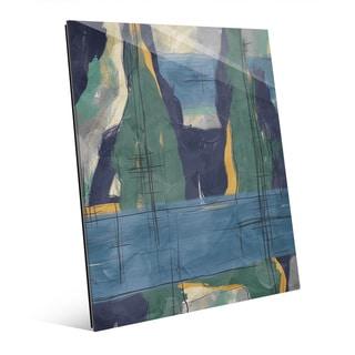 Rock Pillars Green And Blue Wall Art on Acrylic