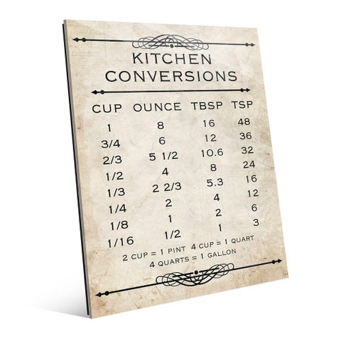 Kitchen Conversions Tan Wall Art Print on Glass
