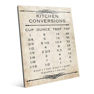 Kitchen Conversions Tan Wall Art Print on Glass (2 options available)