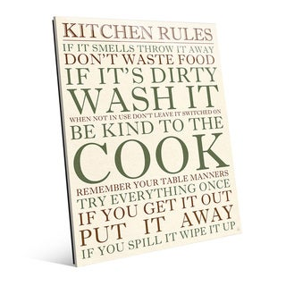 Kitchen Rules Green Wall Art Print on Glass
